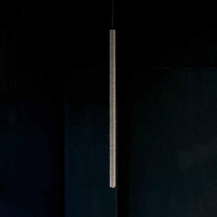 Lampă suspendată din aluminiu acoperită cu frânghie Made in Italy - Ginia