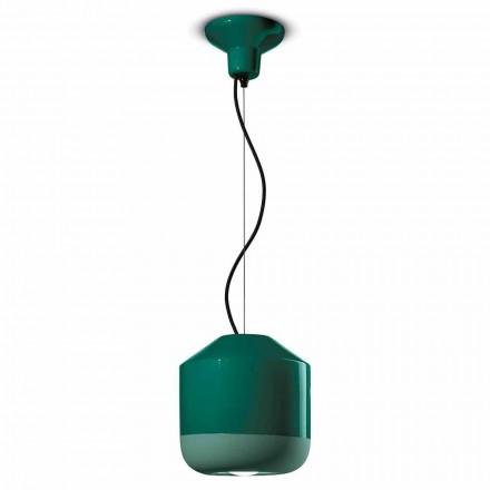 Lampa suspendată din ceramică colorată fabricată în Italia - Ferroluce Bellota