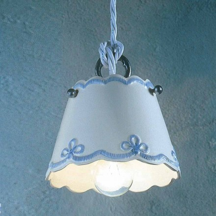 Lampa de suspensie ceramic cu bandă colorată Ferroluce
