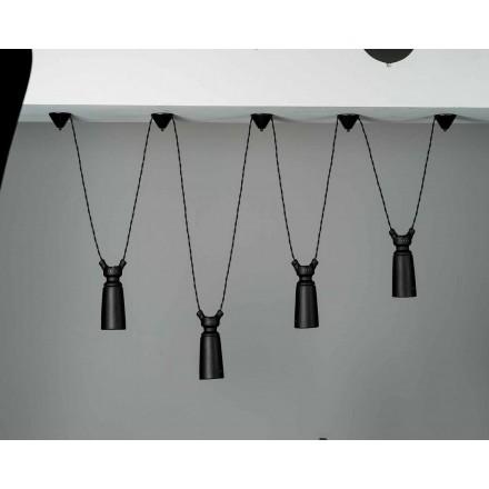 Lampă ceramică cu pandantiv pentru compoziția Battersea - Toscot