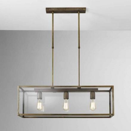 lampă de suspensie în fier și sticlă Londra Il Fanale