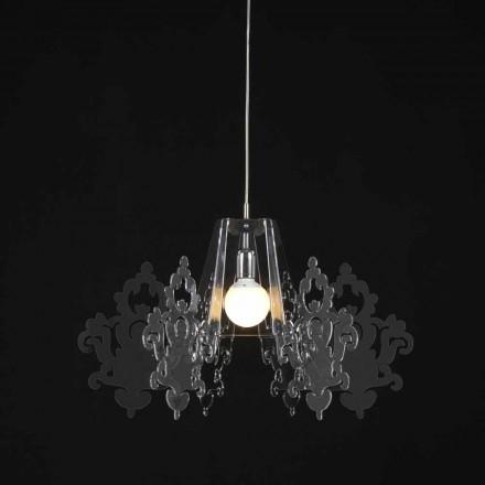 Lampa din suspensii metacrilat colorate Alessia, cu diametrul de 70 cm