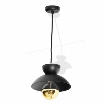Lampă suspendată din metal cu detaliu modern de aur Made in Italy - Valta