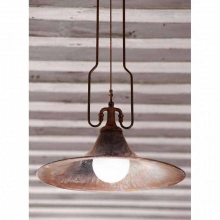 Suspensie lampă alamă și cupru moara