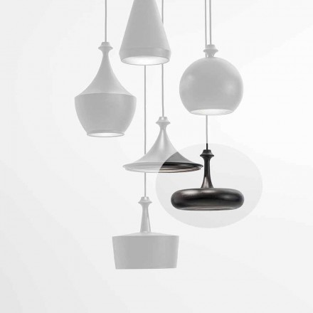 Lampă cu suspensie LED Fabricată în Italia în paiete de ceramică - L4 Aldo Bernardi