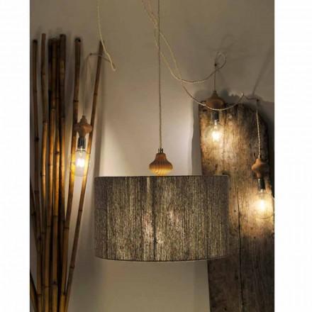 Lanternă modernă cu 4 lămpi, cu piese din lemn Bois