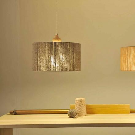 Lampă modernă cu pandantiv cu element de lemn Bois