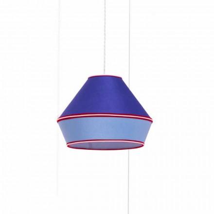 Lampă modernă cu abajur din bumbac albastru Made in Italy - Soia