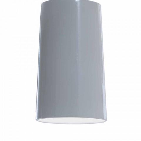 Abajur de lampă cu suspensie în ceramică alb lucios - Cadabra