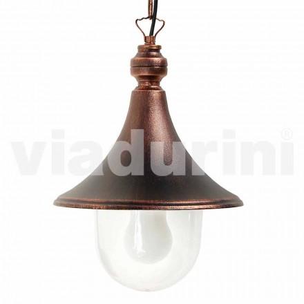 Lampa cu pandantiv exterior realizată cu aluminiu, fabricată în Italia, Anusca