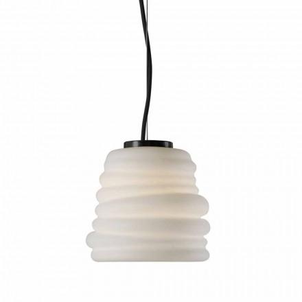 Lampă de sufragerie din living din sticlă satinată albă 3 dimensiuni - moale