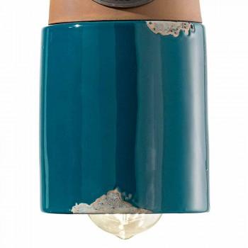 Agățat lampă stil industrial ceramică și fero Stephanie