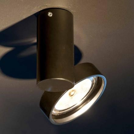 Lampă manuală din aluminiu cu inel reglabil Made in Italy - Gemina