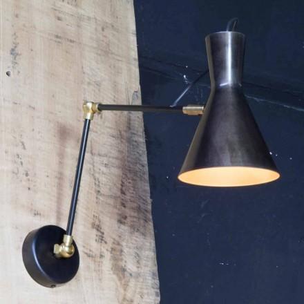 Lampă de fier fabricată manual cu umbră din aluminiu Fabricată în Italia - Selina