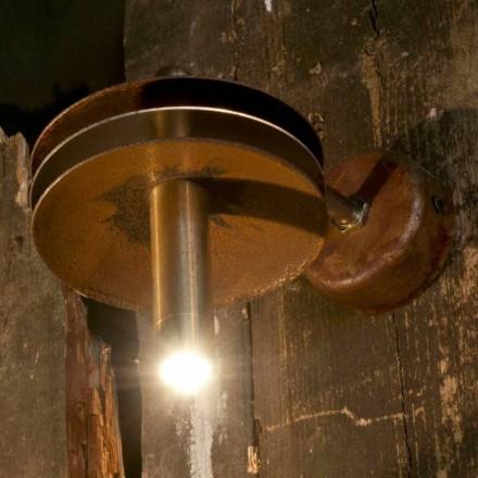 Lampă fabricată manual în finisaj de Corten și alamă de fier Fabricată în Italia - Solano