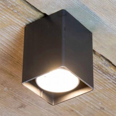 Lampă artizanală din fier negru cu formă cubică Fabricată în Italia - Cubino