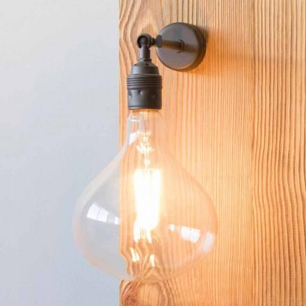 Lampă cu structură de fier luciat manual realizată în Italia - Alabama