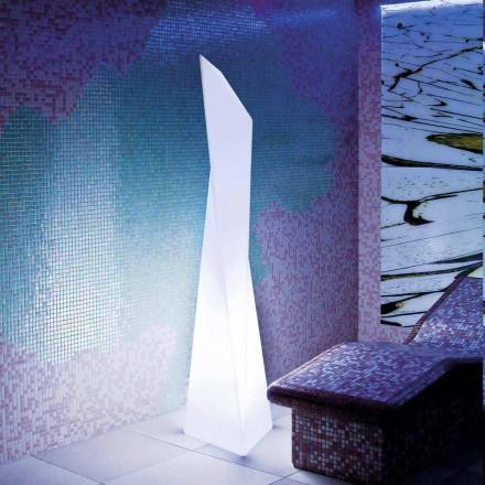 Lampa exterioară de culoare albă Prisma Slide Manhattan, realizată în Italia