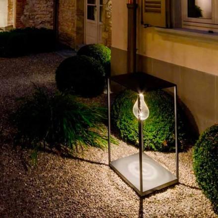 Lampă de exterior fabricată manual din fier, cu LED integrat, fabricată în Italia - Cubola