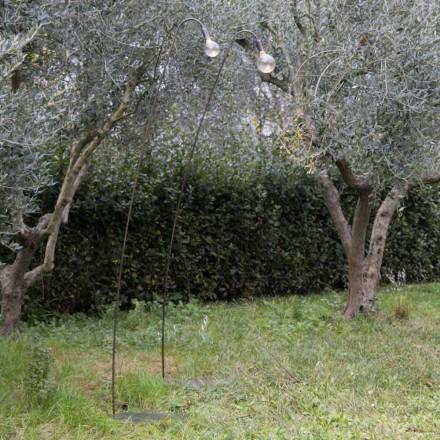 Lampă de exterior artizanală din fier și sticlă decorativă Made in Italy - Beba
