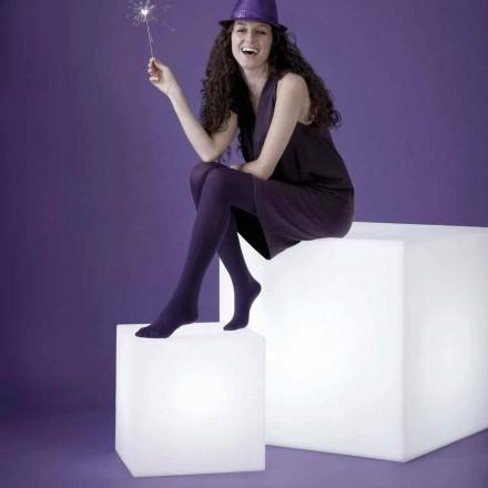 Design modern, lampă exterioară Slide Cube, realizată în Italia