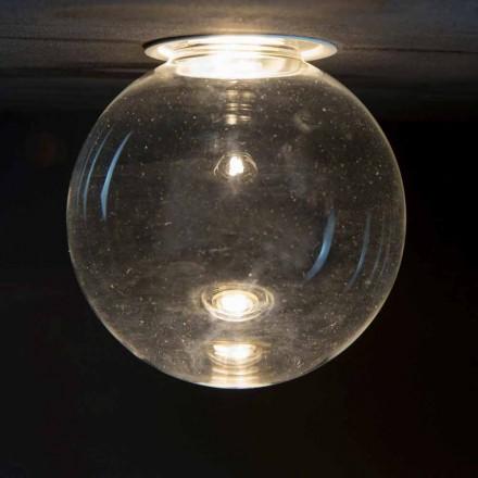 Lampă încastrată din aluminiu cu sticlă decorativă Made in Italy - Ampolla