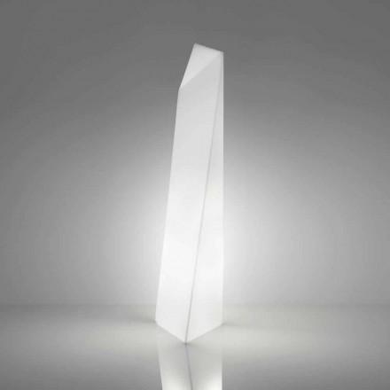 Modernă lampă de podea albă prisma Slide Manhattan, realizată în Italia