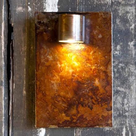 Lampă de perete artizanală în finisaj Corten de fier Fabricat în Italia - Cialda