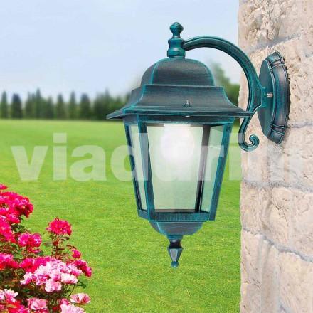 Lampă de perete exterior realizată din aluminiu, produsă în Italia, Aquilina