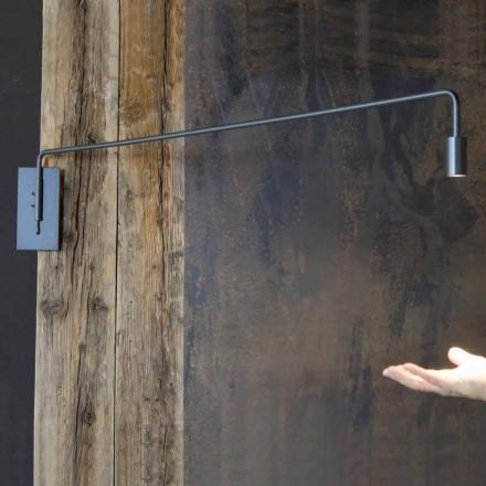 Lampă de perete realizată manual cu structură de fier Made in Italy - Solana