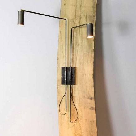 Lampă de perete din fier și aluminiu artizanal Made in Italy - Gemina