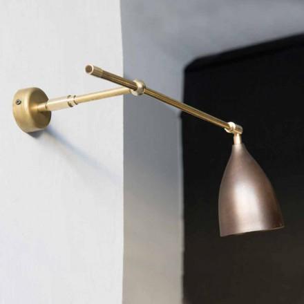 Lampă de perete din fier Alamă și finisaj din cupru lustruit Fabricat în Italia - Conic