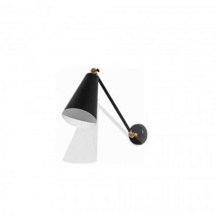 Lampă de perete din metal cu detalii în finisaj auriu Made in Italy - Zaira