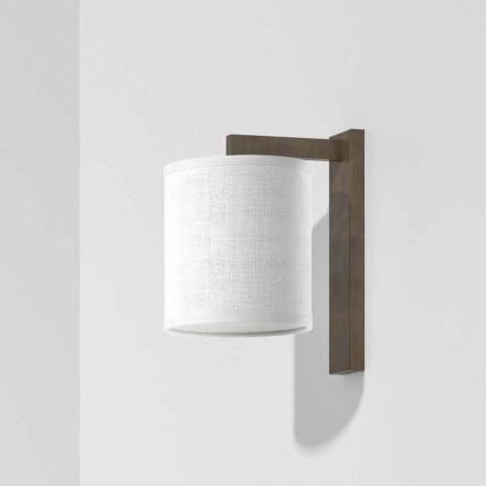 Lampă de perete modernă din metal cu abajur din in Made in Italy - Bali