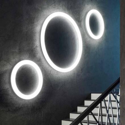 Lampă de perete modernă rotundă, fabricată în Italia, din polietilenă - Slide Giotto