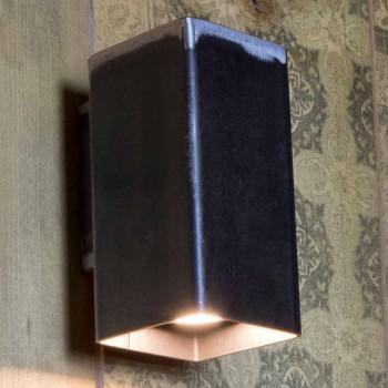 Aplica de perete realizată manual din fier negru Fabricat în Italia - Cubino