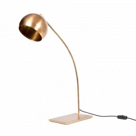 Lampă de masă realizată manual din fier și alamă lustruită Fabricată în Italia - Brina