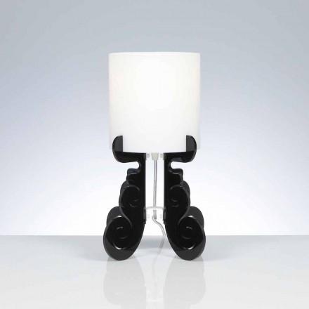 lampă de masă cu un abajur cilindric, cu diametrul de 18,5 cm, Samanta