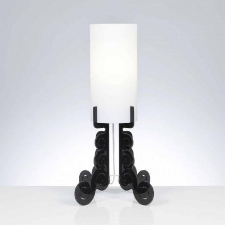 lampă de masă cu un abajur cilindric, cu diametrul de 26,5 cm, Samanta