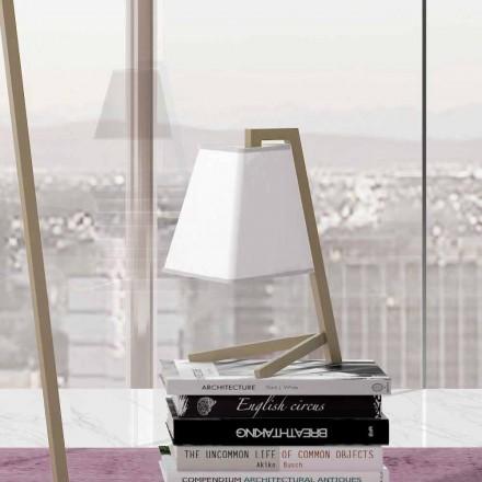 Lampă de masă cu structură din metal și țesătură Made in Italy - Barton