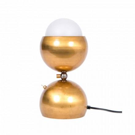 Lampă de masă proiectată manual din alamă și sticlă Made in Italy - Gandia
