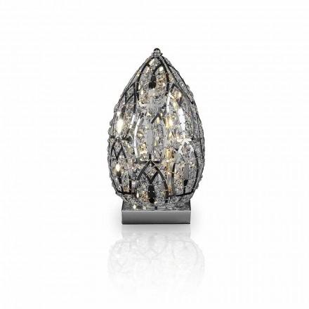 lampă de masă Design din cristal și oțel în formă de ou ou
