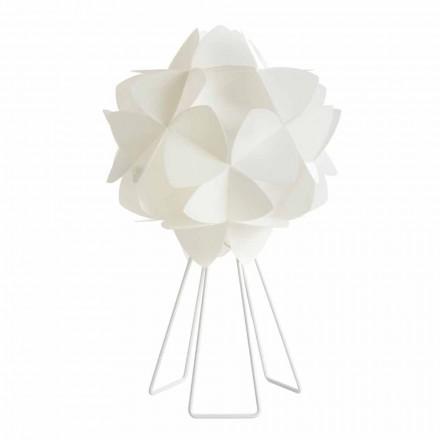 Lampa de masa moderna perla de design alb, cu diametrul de 46 cm Kaly