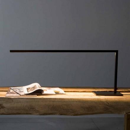 Lampă de masă design din fier vopsit negru mat Fabricat în Italia - Linea