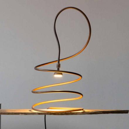 Lampă de masă de design în efect de lustruit de cupru Made in Italy - Fusillo