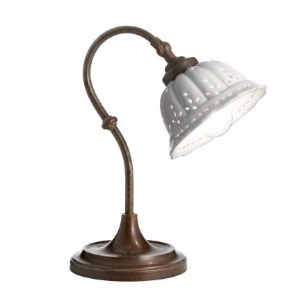 Lampa Art Nouveau de masă ceramică Anita Il Fanale