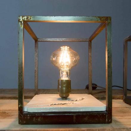 Lampă de masă din fier și ceramică realizată manual în Italia - Floria