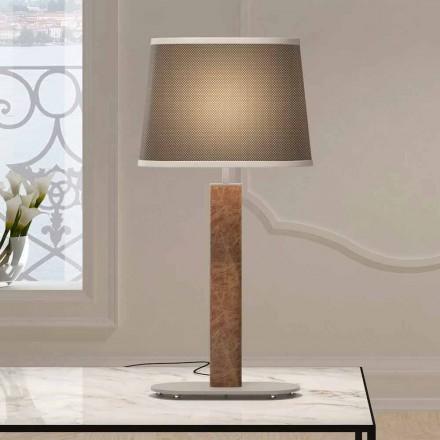 Lampă de masă din metal cu abajur din țesătură Made in Italy - Jump