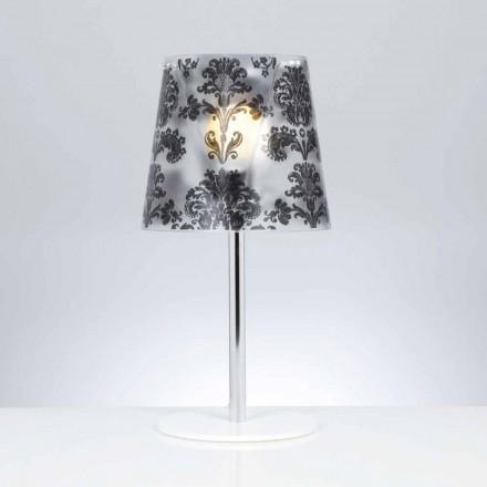 Policarbonat lampă de masă cu decorațiuni, diametru 30 cm, Mara