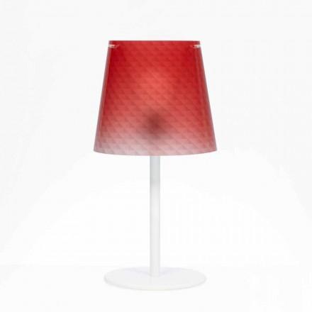 masă lampă de policarbonat, decorare diamant, Rania diam. 30 cm